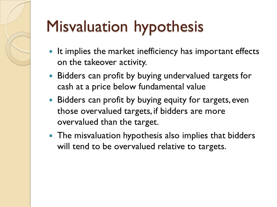 Misvaluation hypothesis