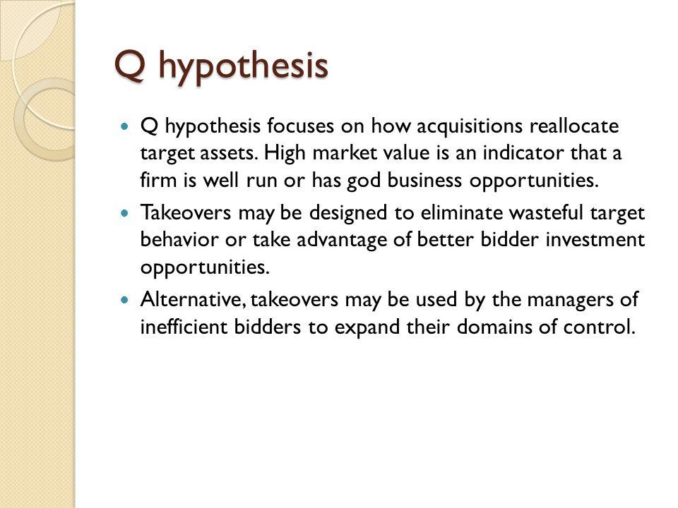 Q hypothesis