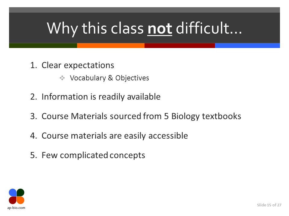 Why this class not difficult…