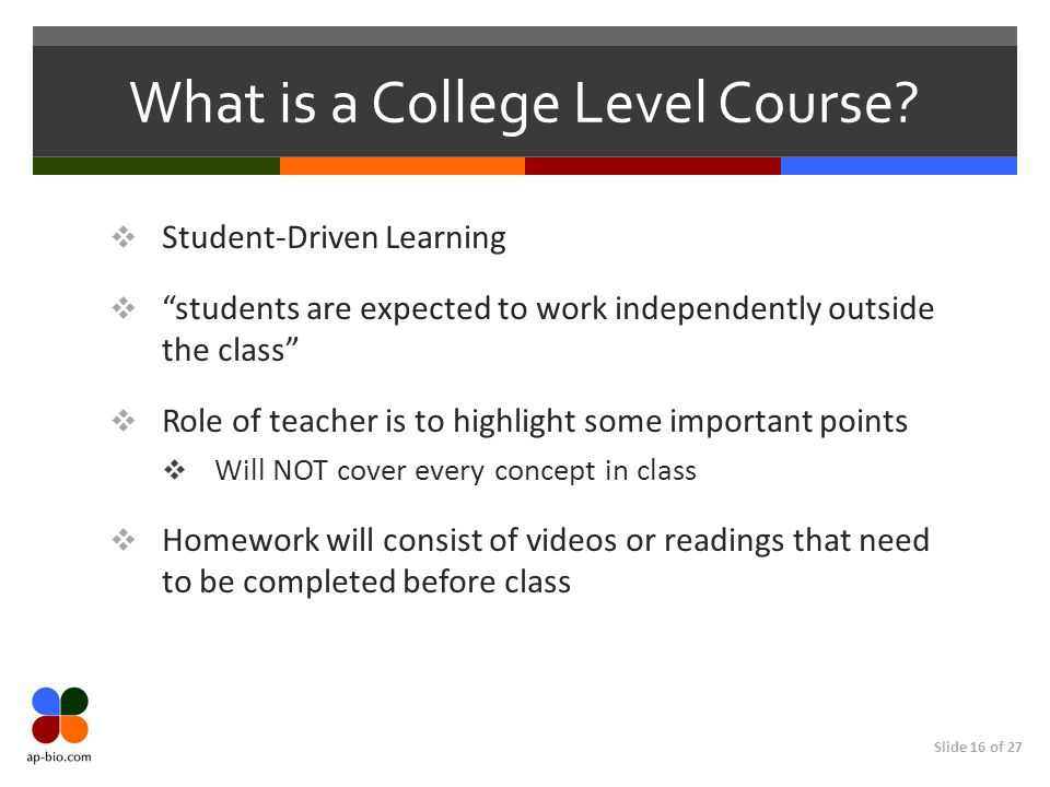 What is a College Level Course