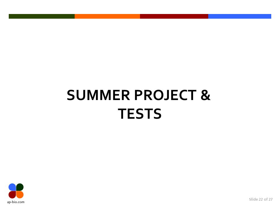 SUMMER PROJECT & Tests