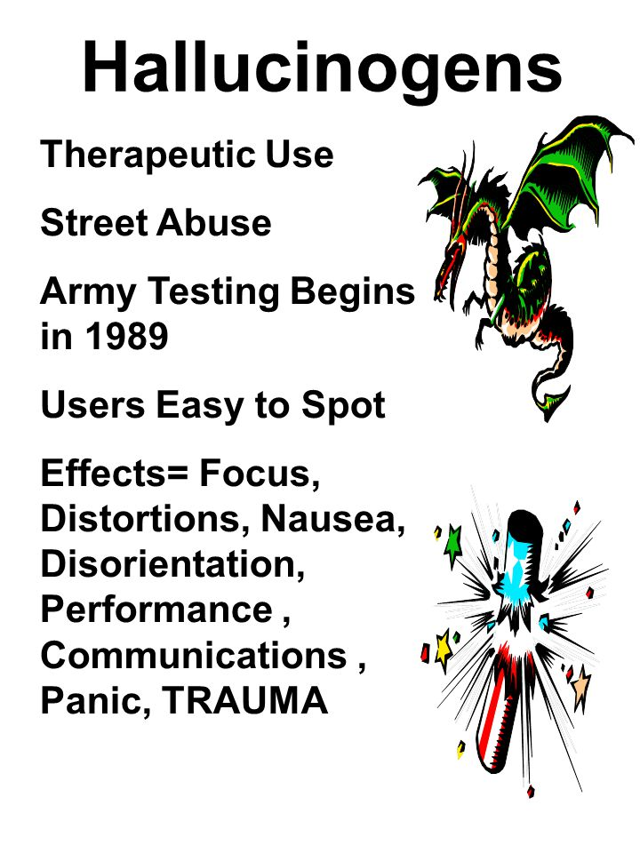 Hallucinogens Therapeutic Use Street Abuse Army Testing Begins in 1989