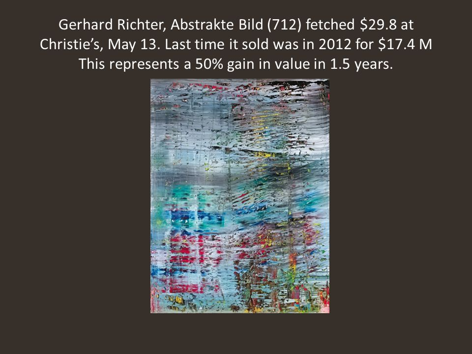 Gerhard Richter, Abstrakte Bild (712) fetched $29