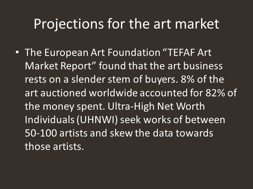 Projections for the art market