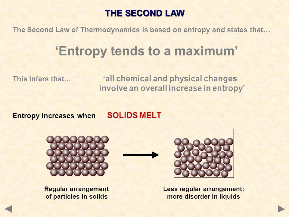 'Entropy tends to a maximum'