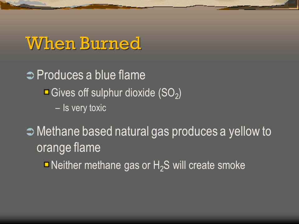 When Burned Produces a blue flame