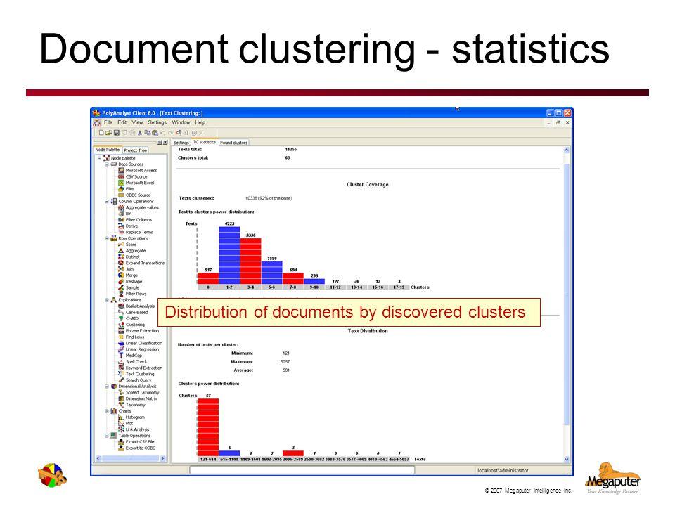 Document clustering - statistics