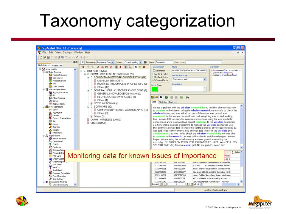 Taxonomy categorization