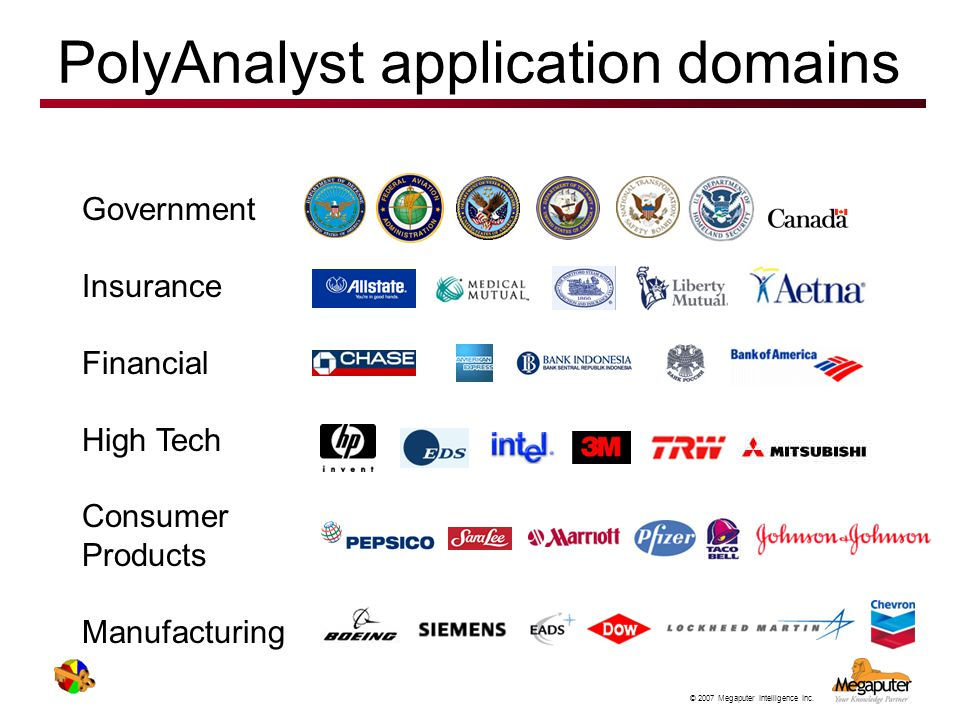 PolyAnalyst application domains