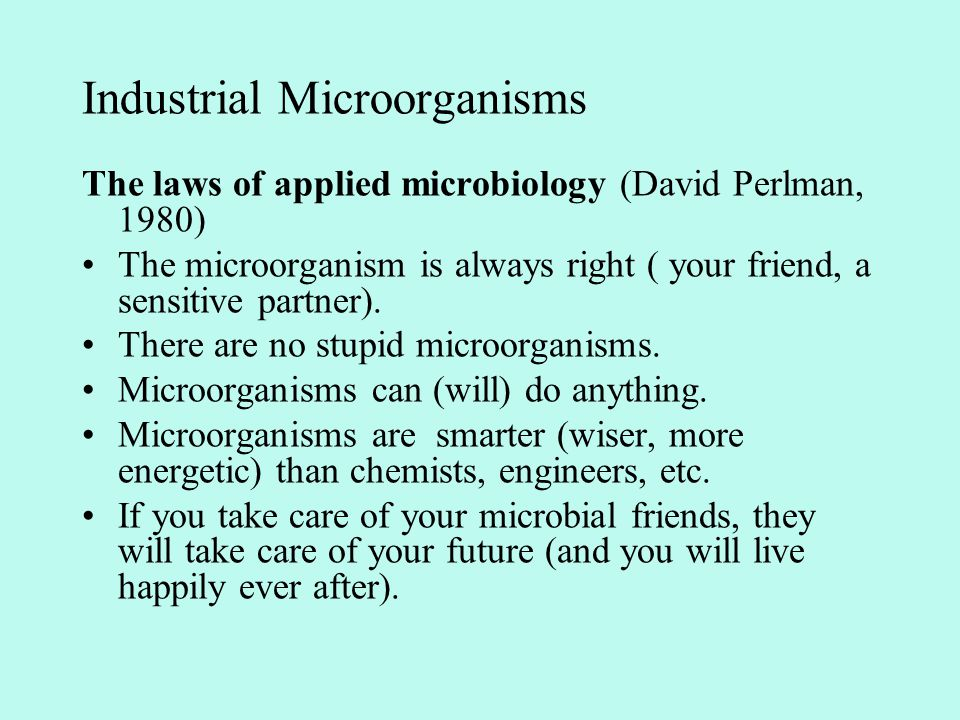 Industrial Microorganisms