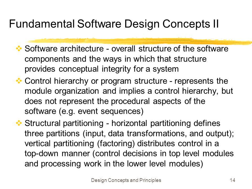 Fundamental Software Design Concepts II