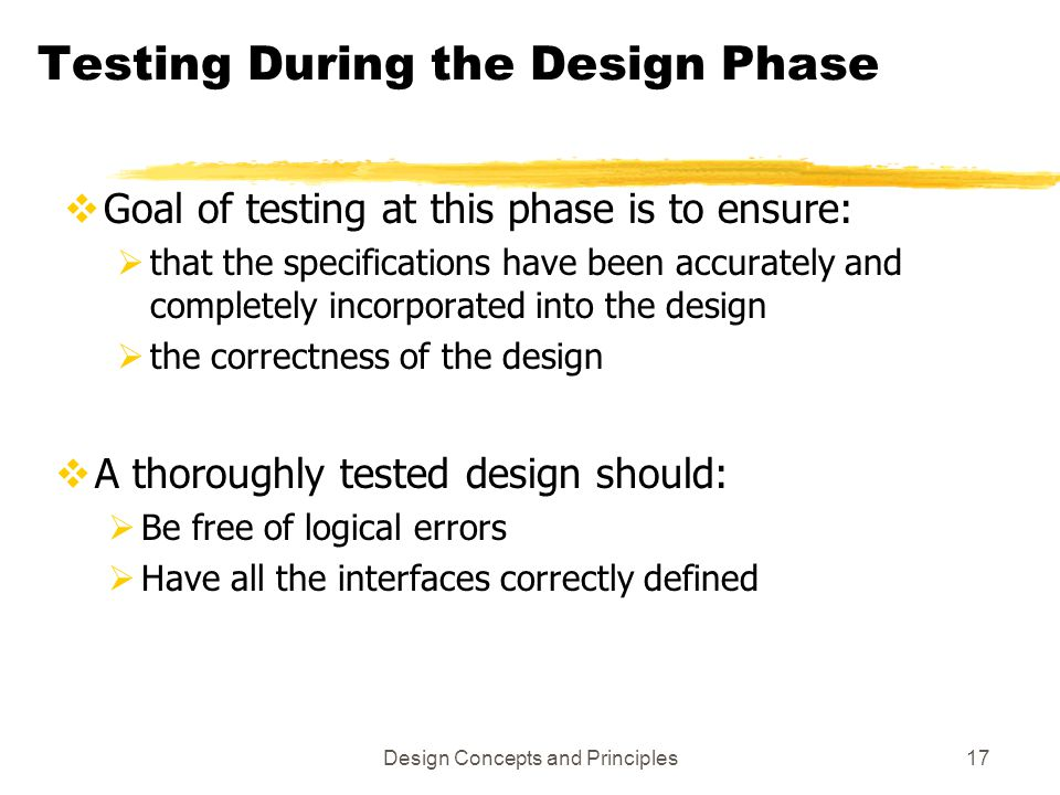 Testing During the Design Phase