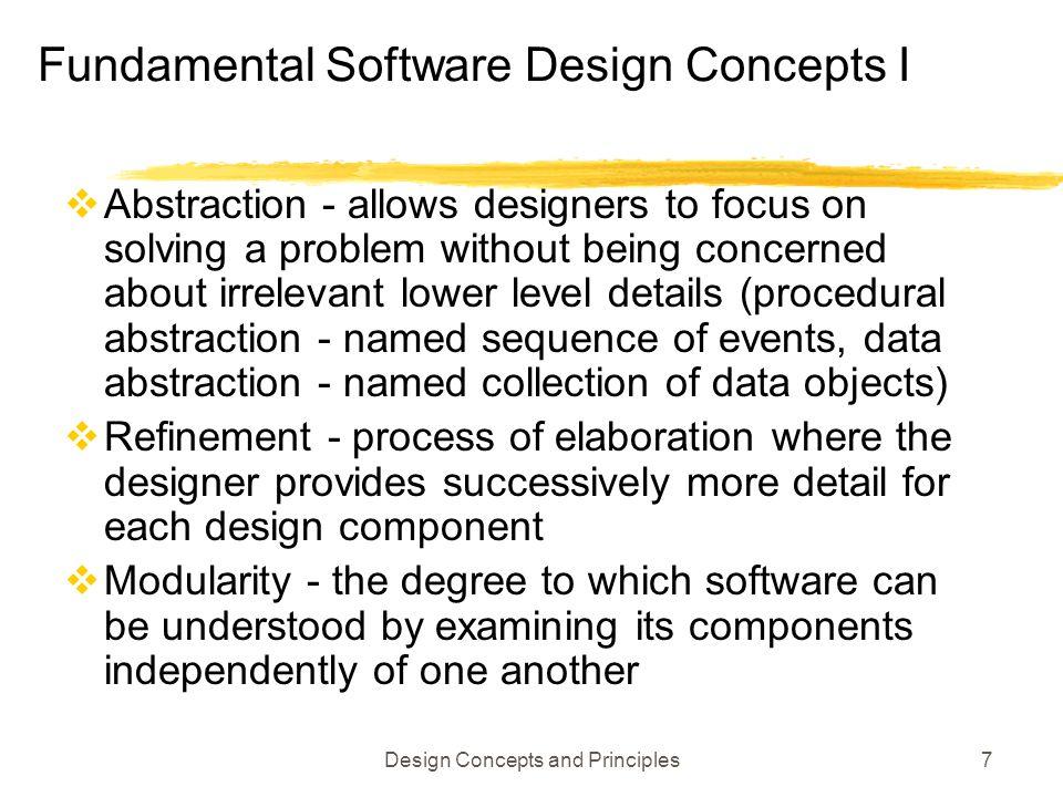 Fundamental Software Design Concepts I