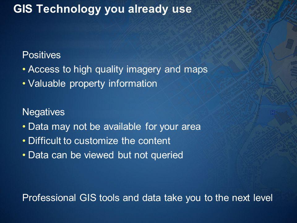 GIS Technology you already use