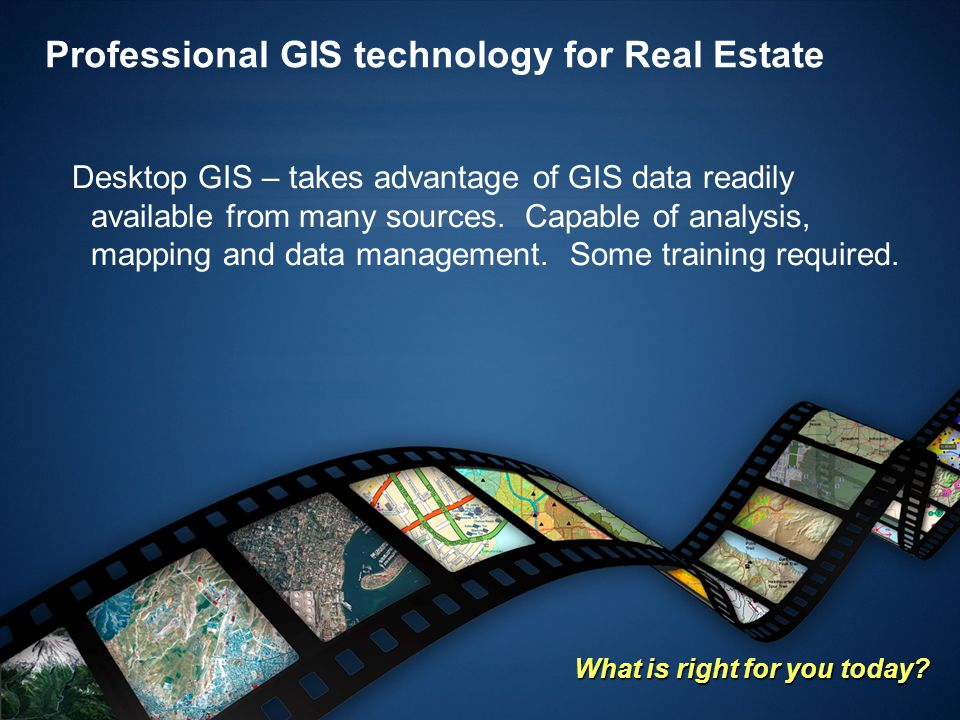 Professional GIS technology for Real Estate