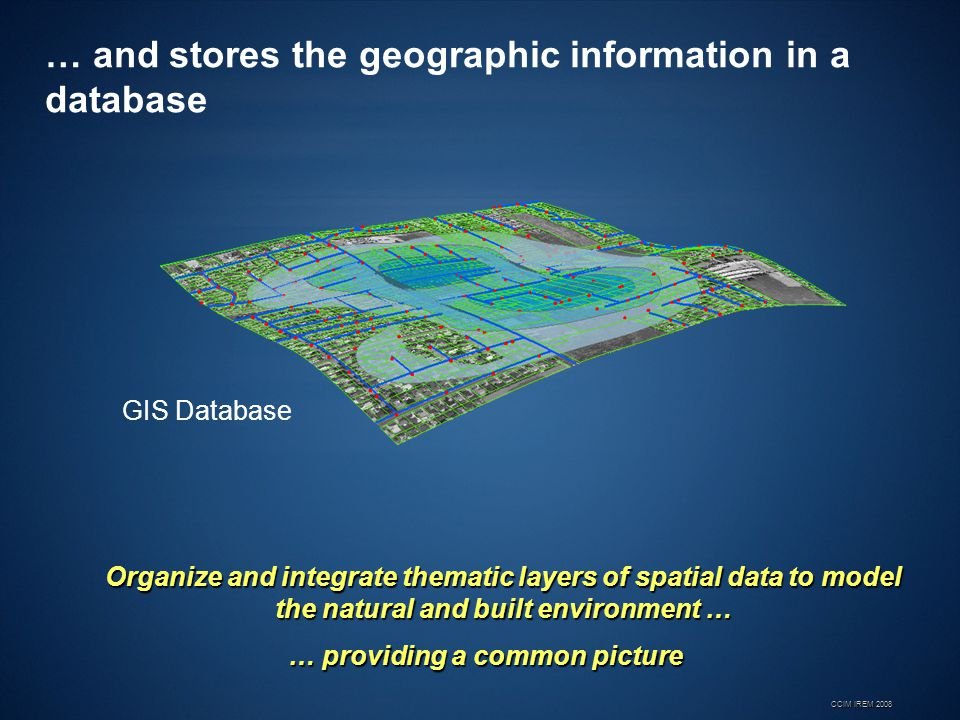 … and stores the geographic information in a database