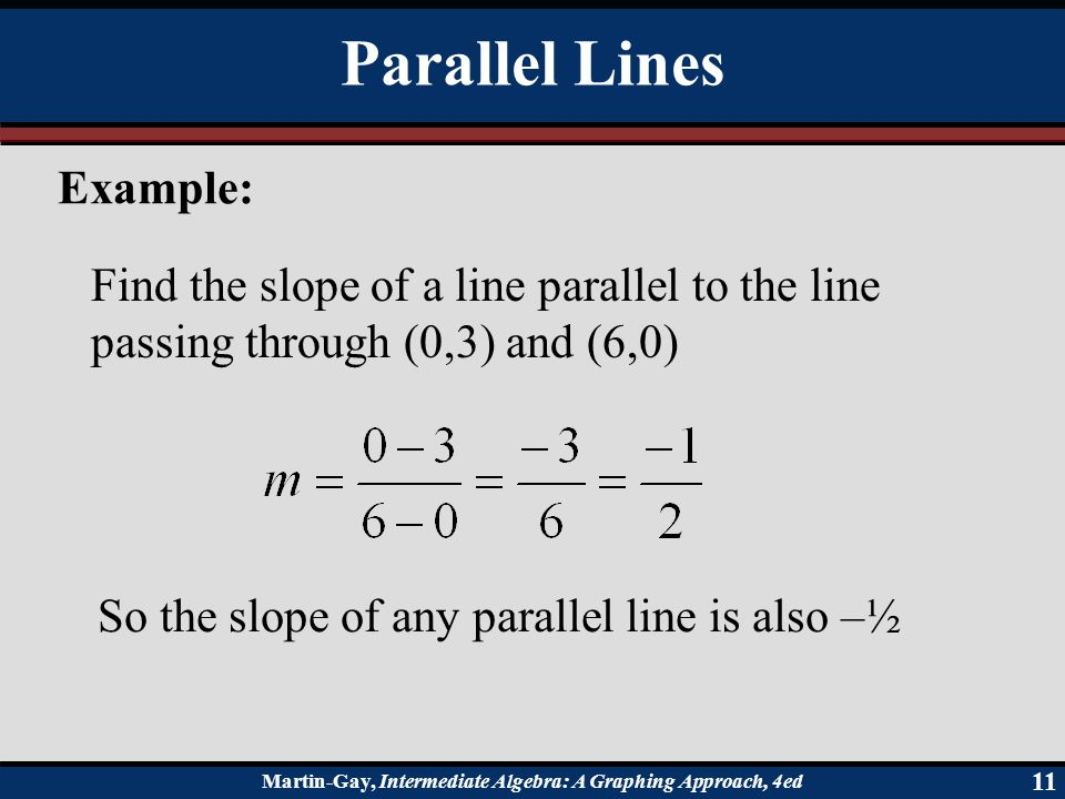 Parallel Lines Example: