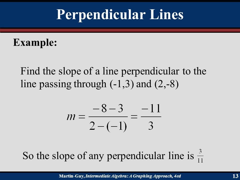 Perpendicular Lines Example:
