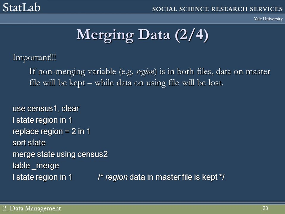 Merging Data (2/4) Important!!!