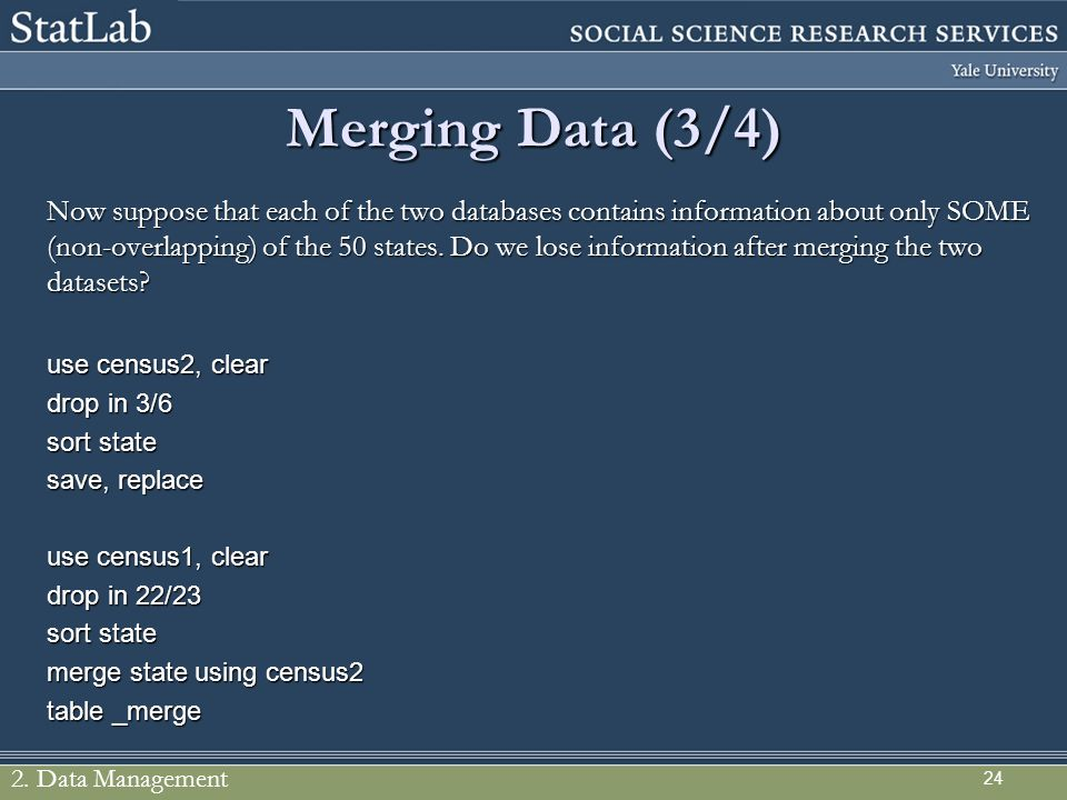 Merging Data (3/4)