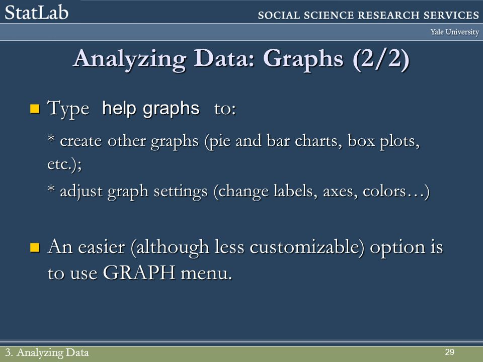 Analyzing Data: Graphs (2/2)