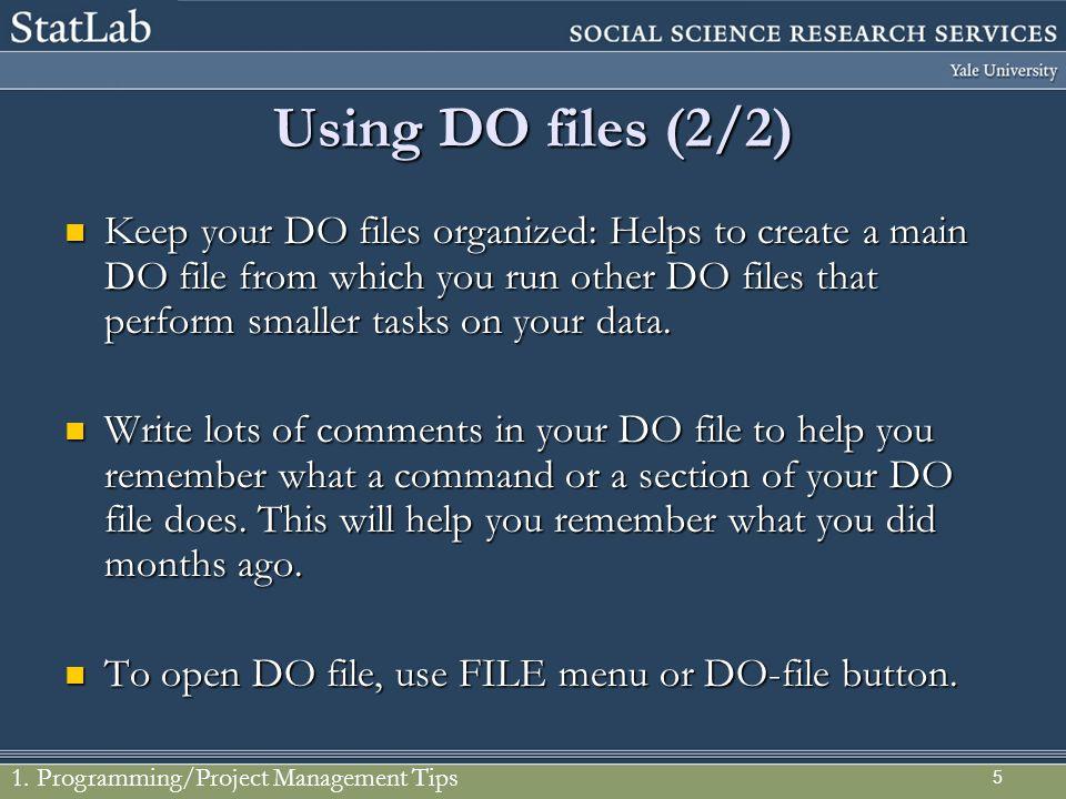Using DO files (2/2)
