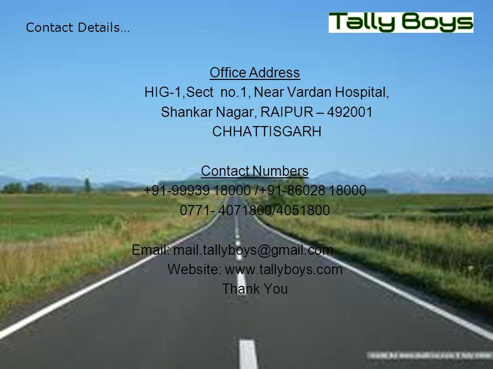 HIG-1,Sect no.1, Near Vardan Hospital, Shankar Nagar, RAIPUR – 492001