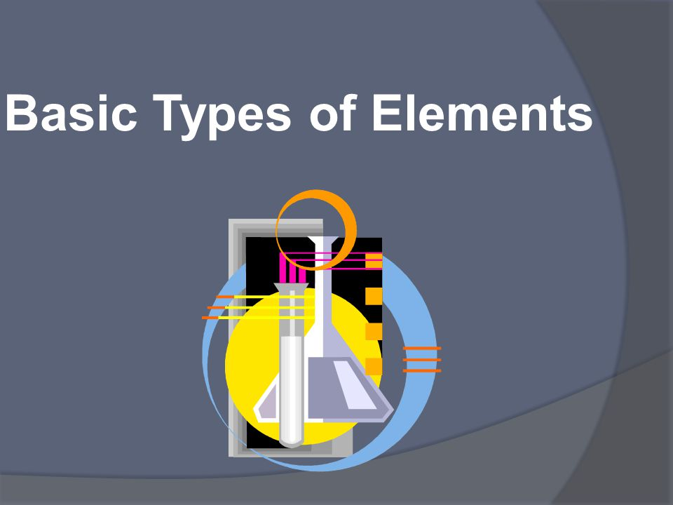 Basic Types of Elements