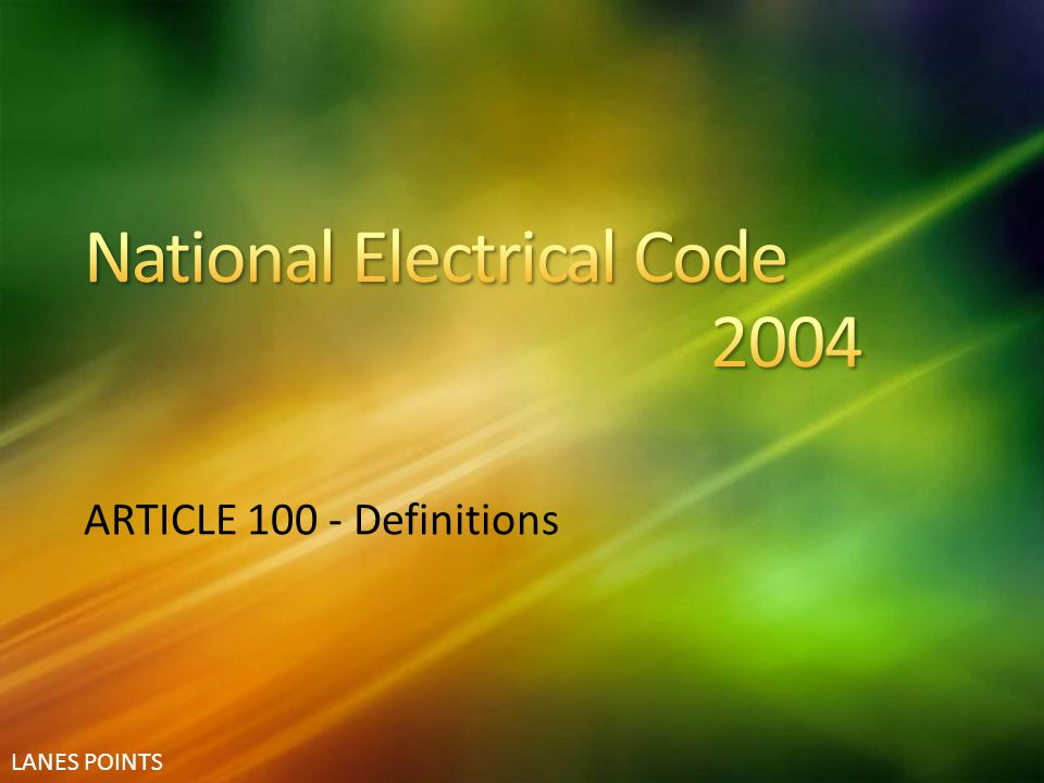 National Electrical Code 2004