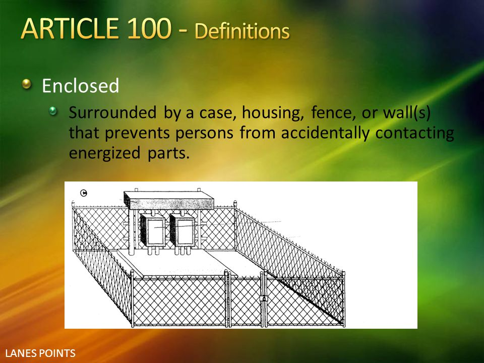 ARTICLE 100 - Definitions Enclosed