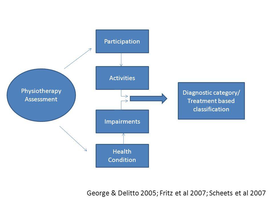 George & Delitto 2005; Fritz et al 2007; Scheets et al 2007