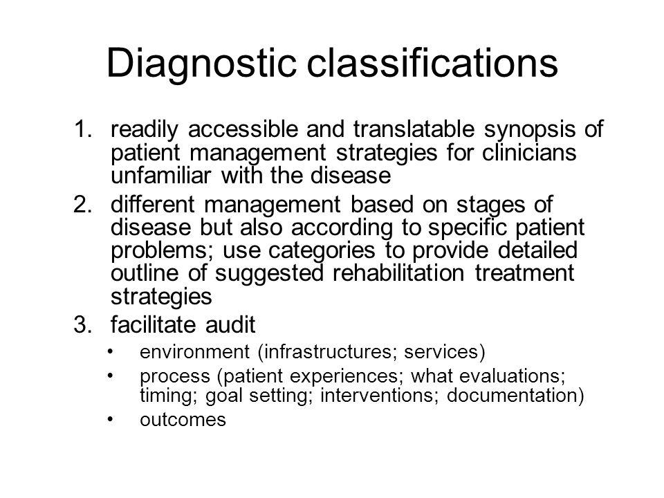 Diagnostic classifications