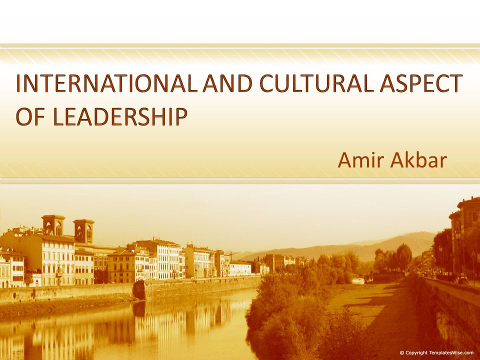 INTERNATIONAL AND CULTURAL ASPECT OF LEADERSHIP