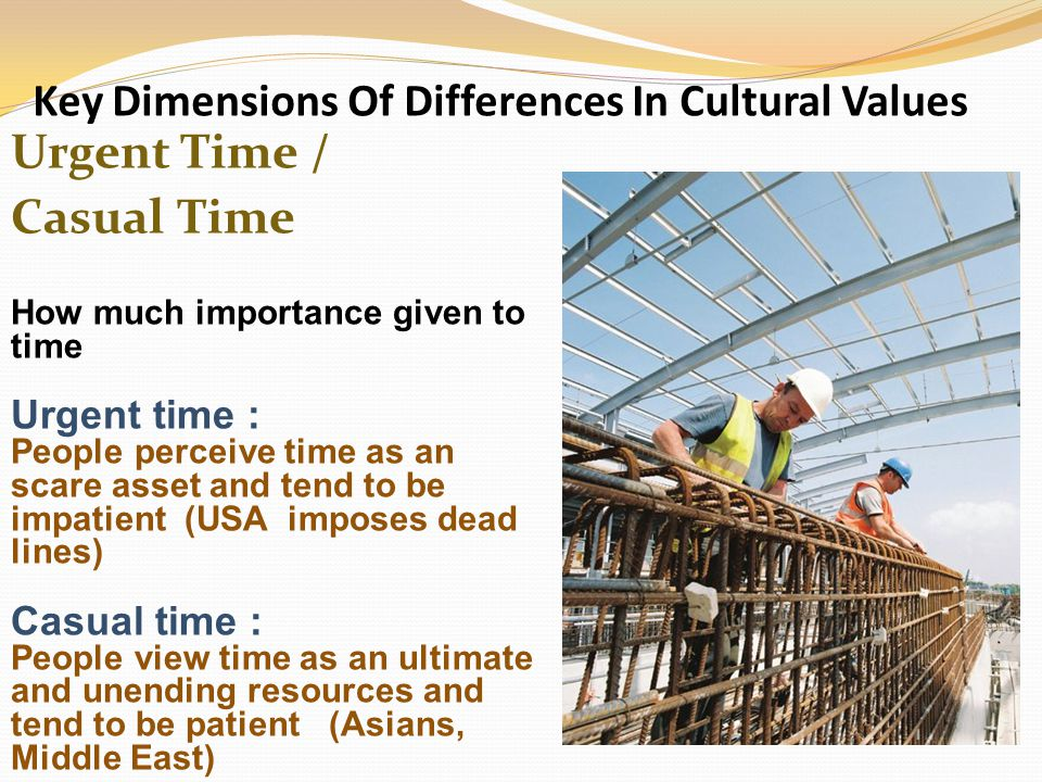 Key Dimensions Of Differences In Cultural Values
