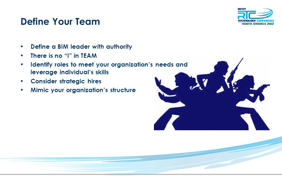 Define Your Team Define a BIM leader with authority