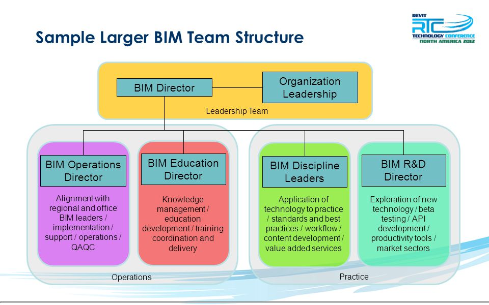 Sample Larger BIM Team Structure