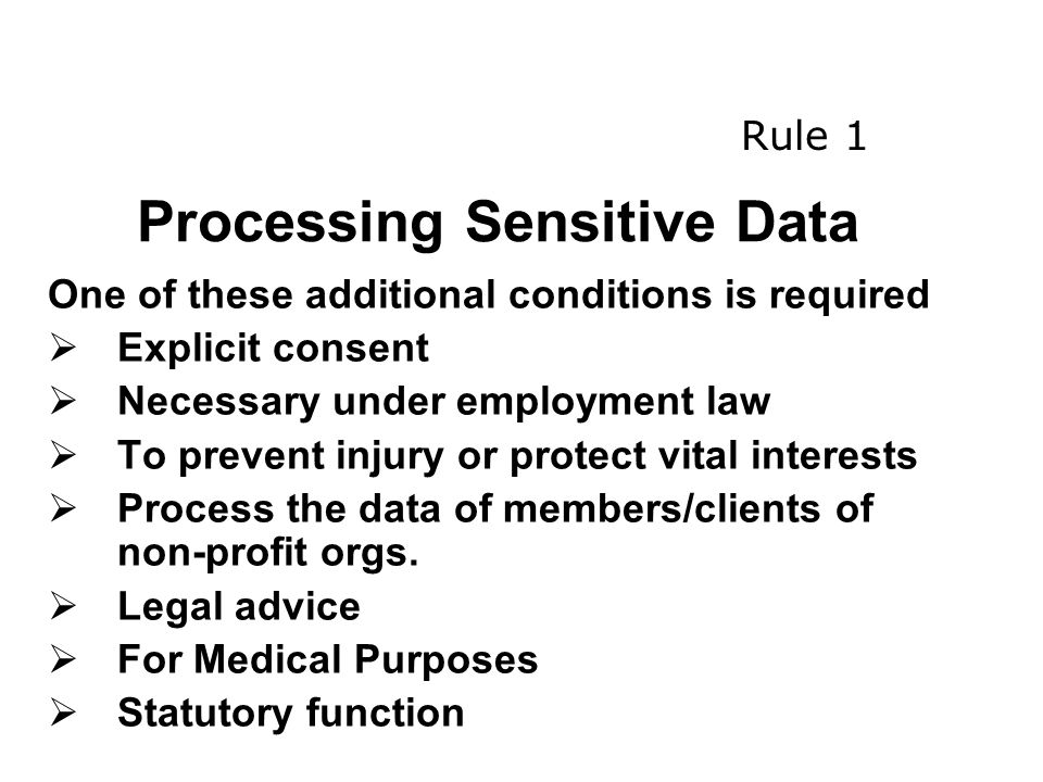 Processing Sensitive Data
