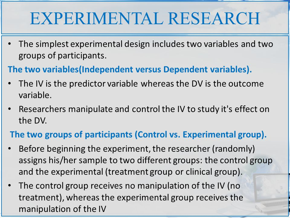 What is experimental research