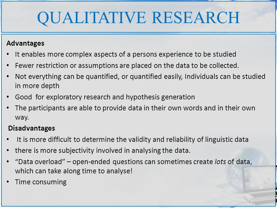 Benefits Of Quantitative Research