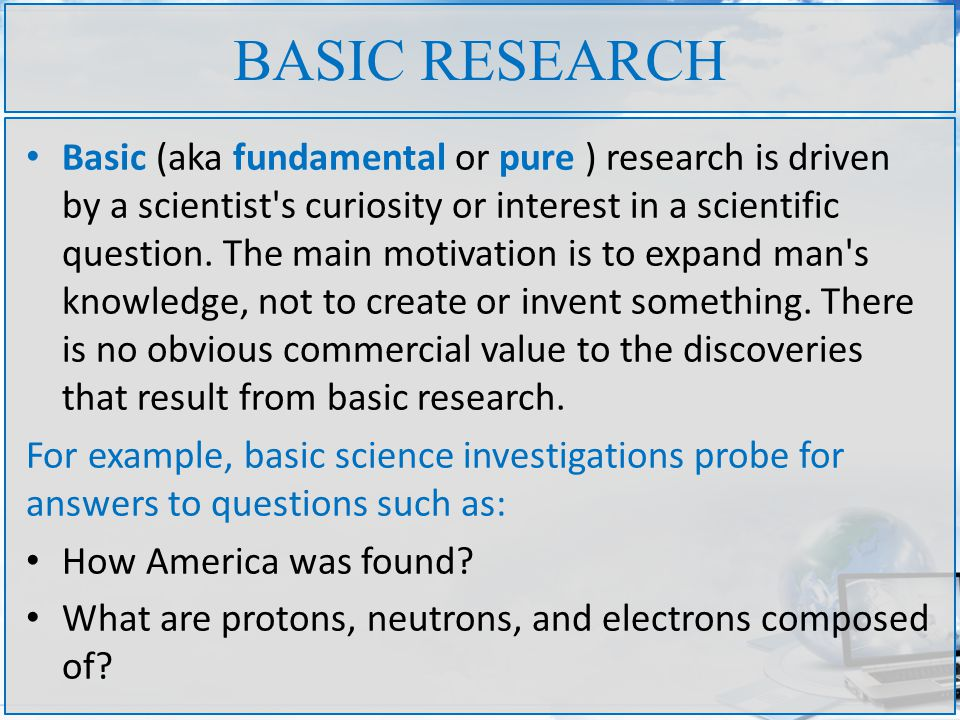 Basic pure research