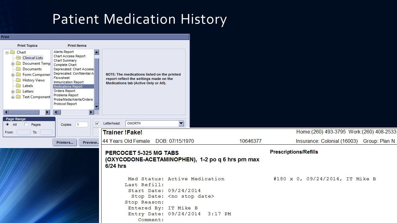 Patient Medication History