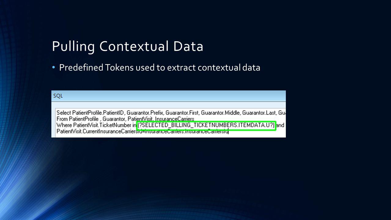 Pulling Contextual Data