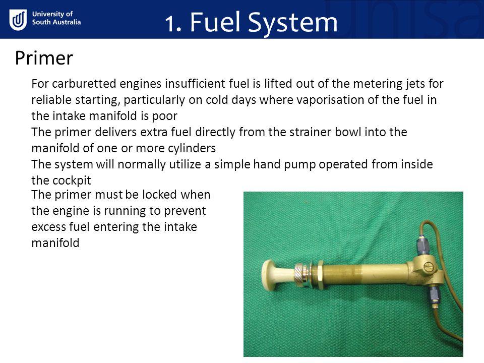 1. Fuel System Primer.