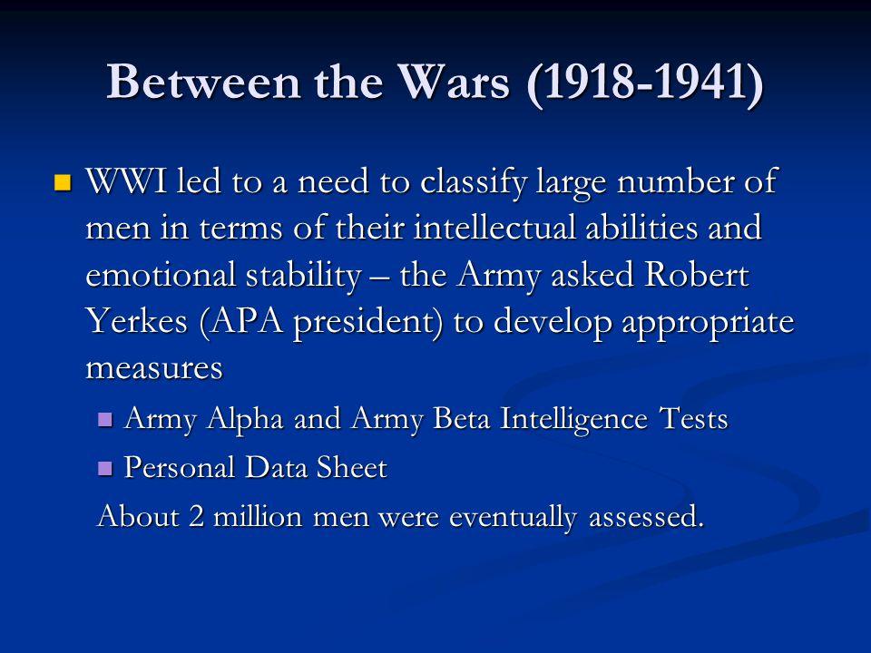 Between the Wars (1918-1941)