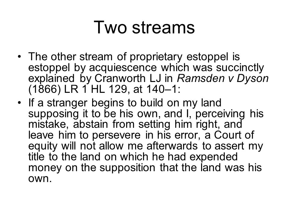Two streams