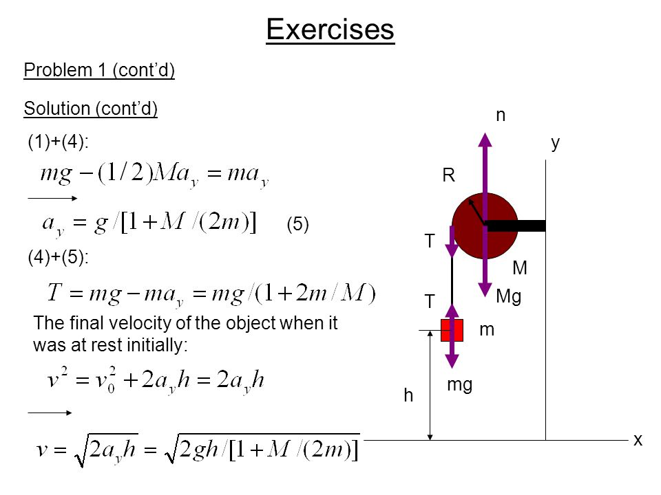 Exercises Problem 1 (cont'd) Solution (cont'd) n (1)+(4): y R (5) T