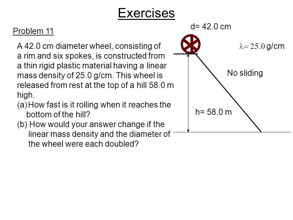 Exercises d= 42.0 cm Problem 11