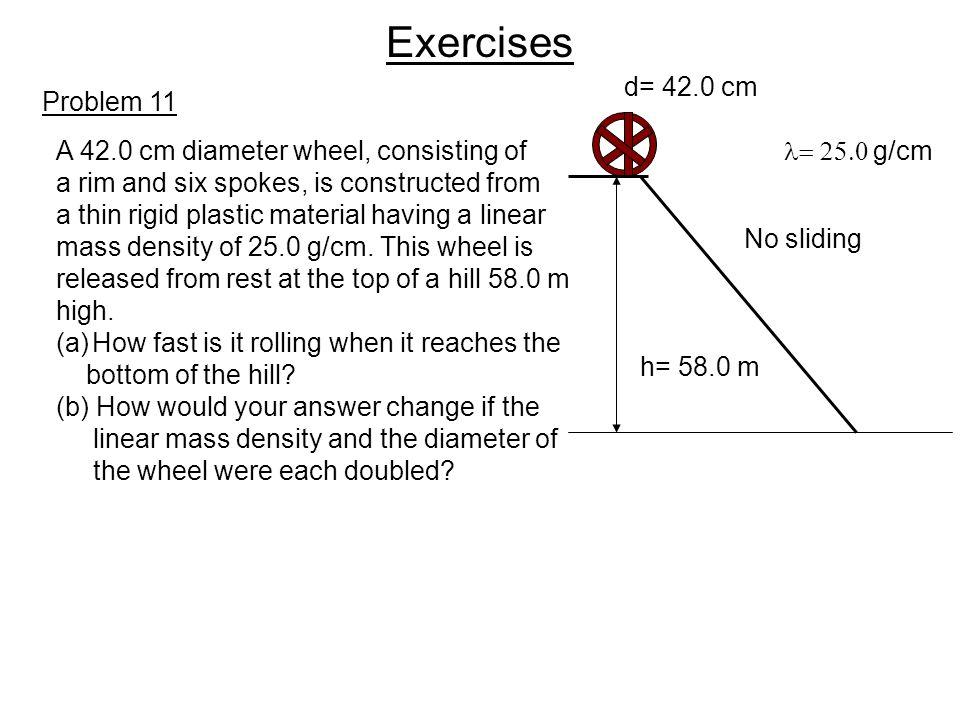 Exercises d= 42.0 cm Problem 11