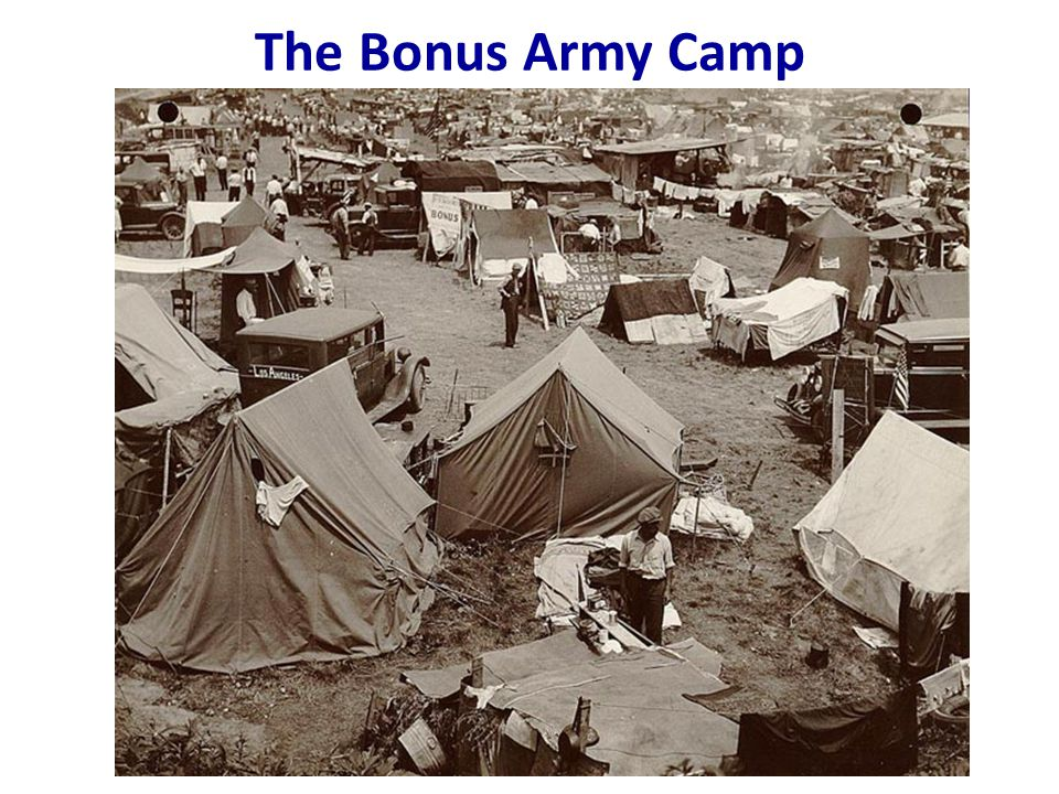 The Bonus Army Camp