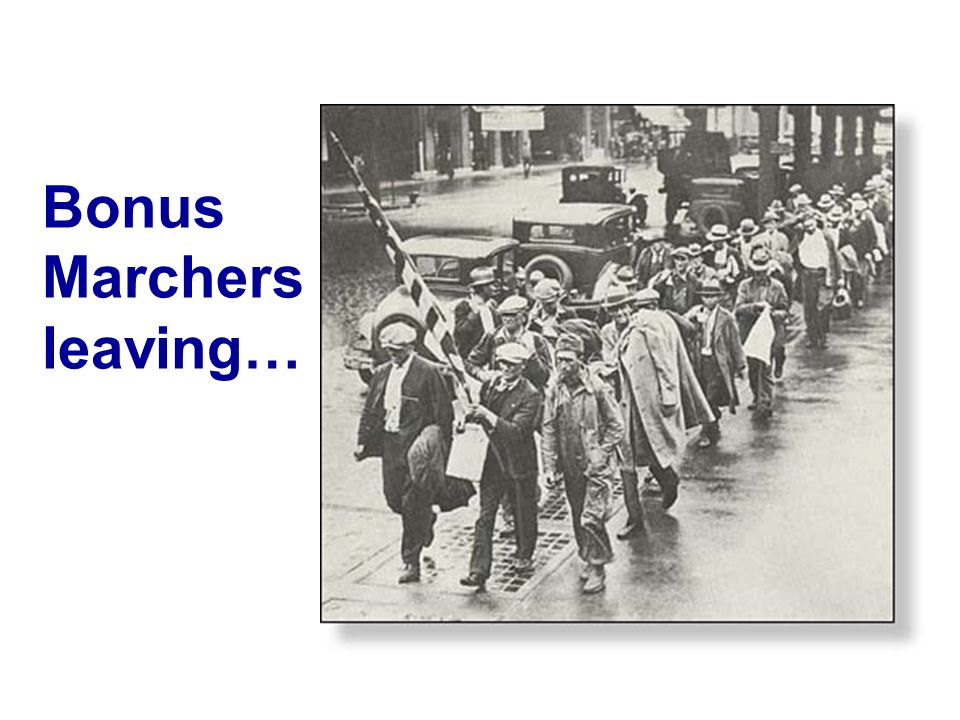 Bonus Marchers leaving…